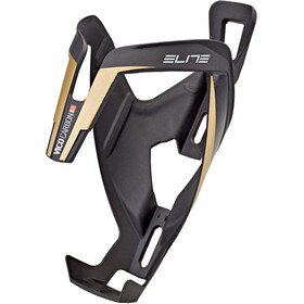 Elite Vico Bottle Holder Carbon matte black/gold graphic